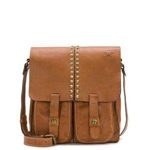 Patricia Nash Armeno Tan Leather Crossbody Bag